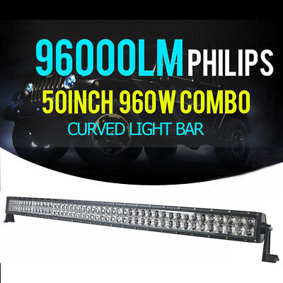 PHILIPS 50INCH 960W Combo Curved LED 4WD Light Bar Offoard Driving Truck SUV 52""