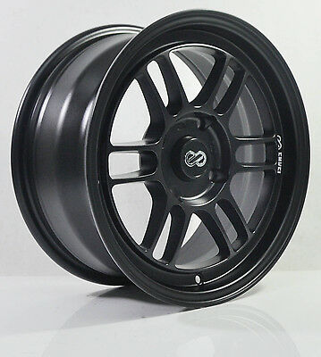 4pcs ENKEI RPF1 16 inch Mag Wheels Rim 4X100 Alloy wheel Car Rims Flat Black -3