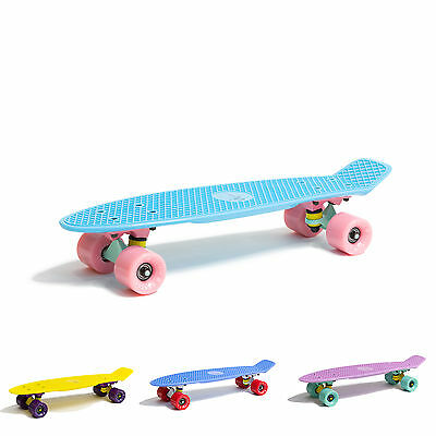 "Fish Cruiser Skateboard 22"" Penny Board Retro Mini Cruiser Komplettboard"