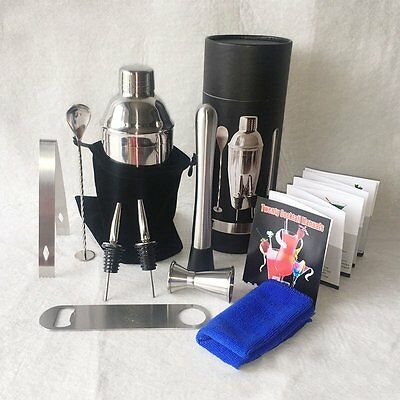 Martini Tools Bar Set Kit Stainless Steel Cocktail Shaker Mixer Drink Bartender