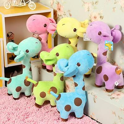 Mini Soft Cute Giraffe Animal Plush Play Decor Toys For Baby Kids Birthday Gifts