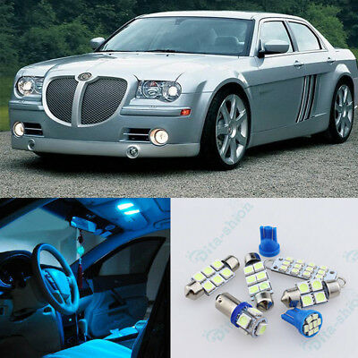 Ice Blue Lights LED Interior Package Kit For Chrysler 300/300C 2005-2010 -10x