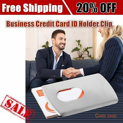 Metal Stainless Steel Card Money Clip Business Credit Card ID Holder Clip GT