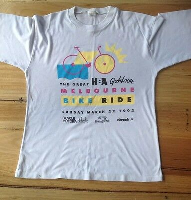 Melbourne Bike Ride 1992 T Shirt Memento Vintage