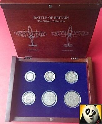 1940 Danbury Mint Battle of Britain Silver Coin Collection World War II WWII
