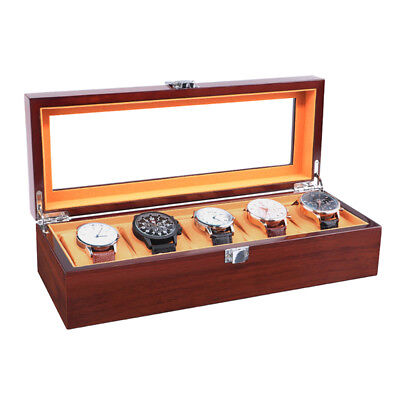 Watch Cases for Men 3 5 8 12 Slots Wood Storage Organizer Display Box Exquisite