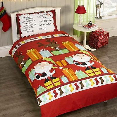 Santa's List Christmas Duvet Cover Set Kids - Junior / 4 In 1, Single & Double