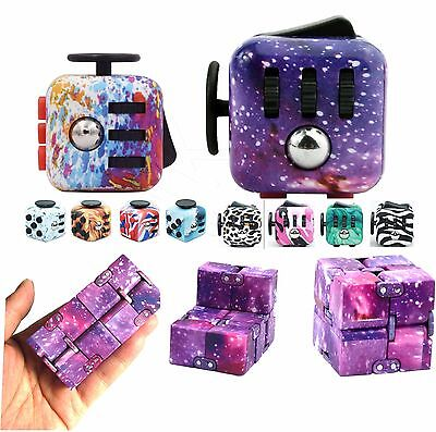 UK Fidget Cube / Spinner Toy Children Desk Toy Adults Stress Relief Cubes ADHD