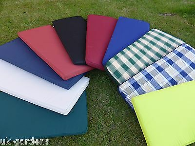 3 Seater Garden Furniture Bench Seat Cushion Water Resistant Outdoor 143x48x6cm