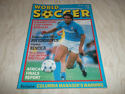 Football Magazine World Soccer May 1988 Champions Cup Final Special Rudi Voller