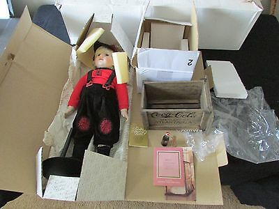 """FRANKLIN MINT LIMITED EDITION COCA COLA HEIRLOOM DOLL """"BILLY""""~Original Packaging"""