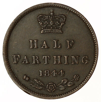1844 Half Farthing ~ Victoria Young Head