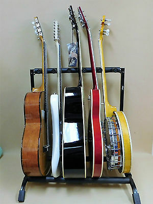Haze Guitar/Instrument Rack Stand for FIVE Acoustic-Electric-Bass-Banjo GS014-5