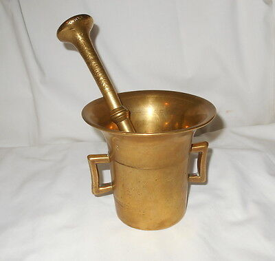 Solid Brass Mortar and Pestle