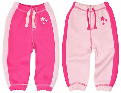 Baby Girls Jogging Pants Kids Pink Cotton Joggers Bottoms New 6 12 18 24 Months