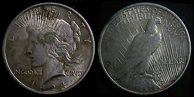 1924 United State Silver Peace Dollar