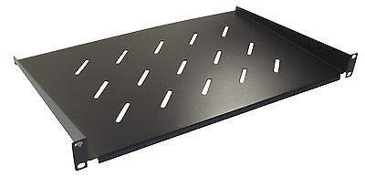 """1u 300mm Deep Vented Shelf for 19"""" Rack Cabinet Front Mounting Type"""