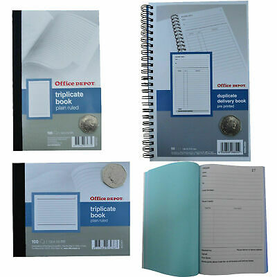 Office Depot Duplicate Order Book. Spiral Bound Carbonless NCR Sheets