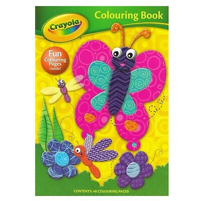 Crayola A4 Colouring Book 48 Pages To Colour Kids Activity Butterfly Animals