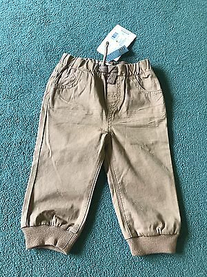 BNWT Mamas & Papas Baby Boy Trousers 12-18 Months in Brown - RRP £22