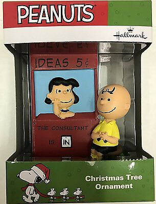 Hallmark, 2016, Peanuts, Charlie Brown & Lucy, The Consultant, Ornament, New!
