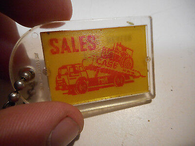 L1337- Rare Vintage J.I. Case Dealer Advertising Keychain Tractor Farm Sign