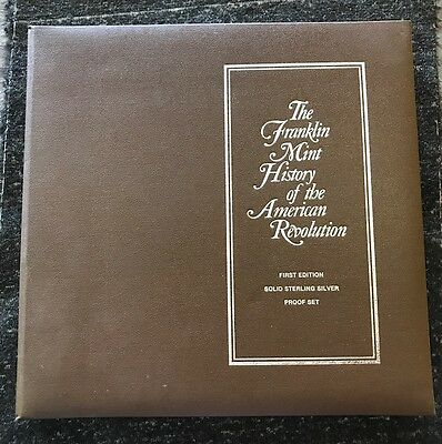 Hostory Of The American Revolution Sterling Silver Proof Set By FRANKLIN MINT