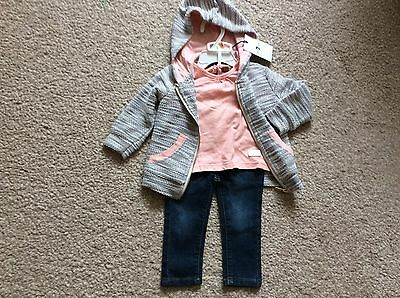 7 SEVEN FOR ALL MANKIND -  BABY GIRLS 3 PART OUTFIT - size 9-12m