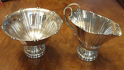 1930's Sterling Silver Georg Jensen No. 4 Cream and Sugar Set