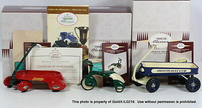 4-PC HALLMARK KIDDIE CAR CLASSICS SIDEWALK CRUISERS 1937 Scamp Wagon, Airflow