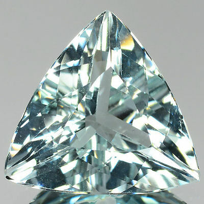 6mm TRILLIANT-FACET ULTRA-LIGHT BLUE NATURAL AFRICAN AQUAMARINE GEMSTONE
