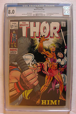 THOR #165 CGC 8.0 1st Full HIM ADAM WARLOCK Movie Soon!