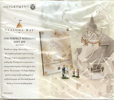 Department 56 Seasons Bay The Perfect Wedding Gift Set New in Box