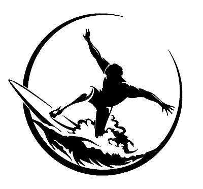 COOL STYLIZED SURFER  STICKER/DECAL  Surfing/Watersports/Surfboards