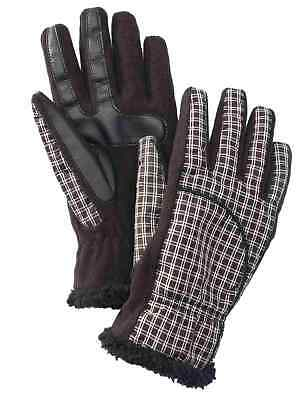 Isotoner Smart Touch Womens Black Plaid Tech & Texting Gloves Smartouch