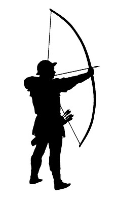 TRADITIONAL ARCHER  STICKER/DECAL  Archery/Bow/Arrow/Quiver/Longbow