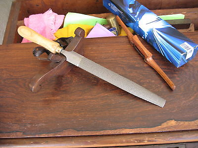 """ONE (1)TOME' FETEIRA 10"""" Cabinet Rasp MED Cut (LIKE #49) incl. Wooden Handle"""