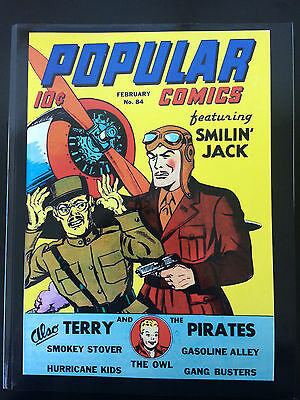 Popular Comics #84 REPRINT EDITION-OWL-TERRY & PIRATES-SMILIN' JACK Feb '43