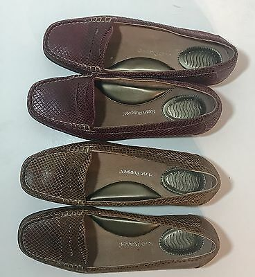 Hush Puppies Lot of 2 Pair Penny Loafers  Red Tan Size 8 Comfort Shoes EU 39