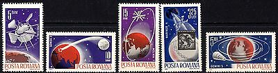 Romania 1965 Space travel  Complete Set of Stamps MNH