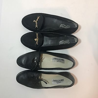 2 Shoes Comfort Trotters Grasshoppers Size 9 Black Leslie Leather EU 39 Loafers