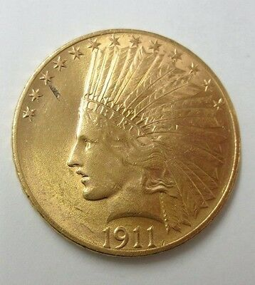 1911 $10.00 Indian Gold Eagle CH-BU (NICE COIN)