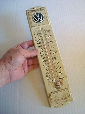 Rare Early VOLKSWAGEN WALL THERMOMETER Vintage Advertising 1960s MADE USA