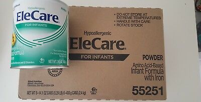6 Cans/Case EleCare Infant Green Can Powder Formula 14.1oz Free Shipping