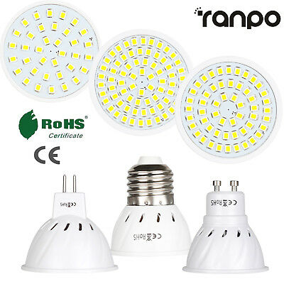 LED Spotlight E27 GU10 MR16 3W 5W 7W 2835 SMD Bulb Lamp 110V 220V 12V High Power