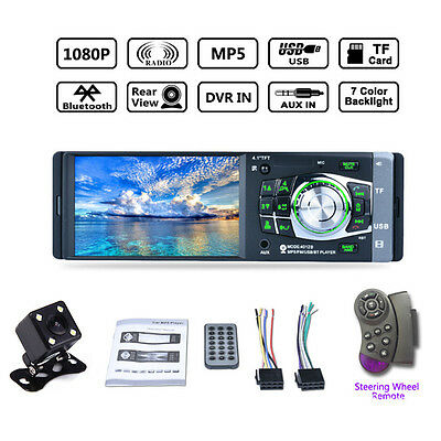 "4.1"" 1 Din HD Screen Bluetooth Car Stereo MP5 Player FM Radio Aux Audio MP3 MG"