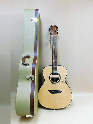 Tallowwood Premium OM Acoustic Guitar SATIN + AD33 Soundhole Pickup + HARD Case