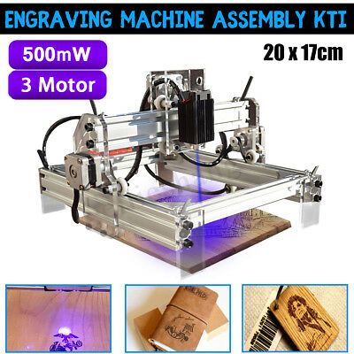 500mw 20x17cm Laser Engraving Engraver CNC Machine Carver Printer Cutter Kit