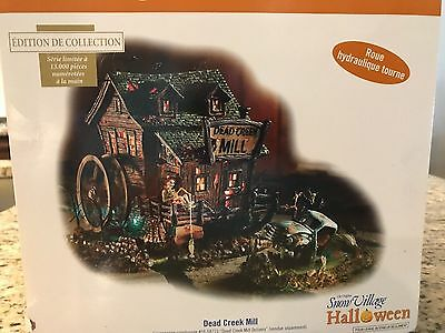 """Dept 56 HALLOWEEN """" DEAD CREEK MILL """" # 54715 GENTLY USED, MINT CONDITION ! RARE"""