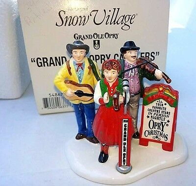 Department 56 Snow Village Grand Ole Opry Carolers #54867 Mint in Box